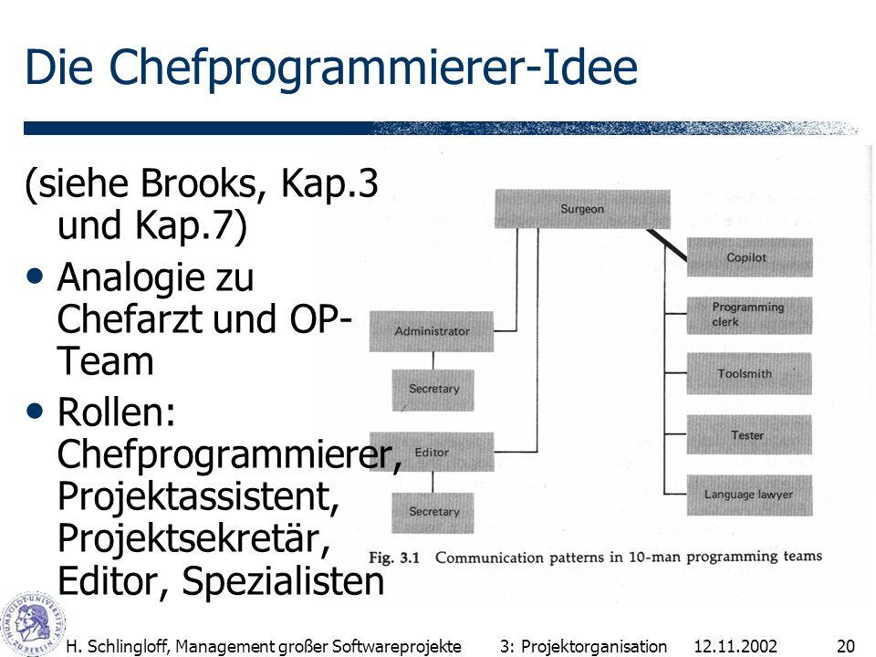 Die Chefprogrammierer-Idee