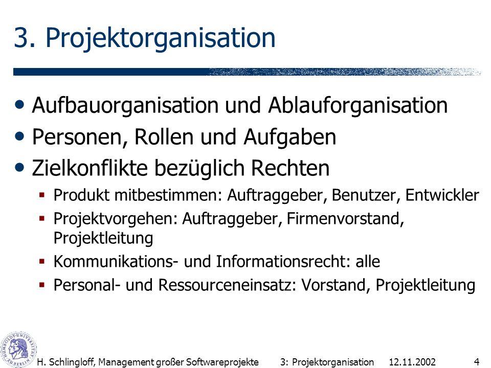 3. Projektorganisation Aufbauorganisation und Ablauforganisation