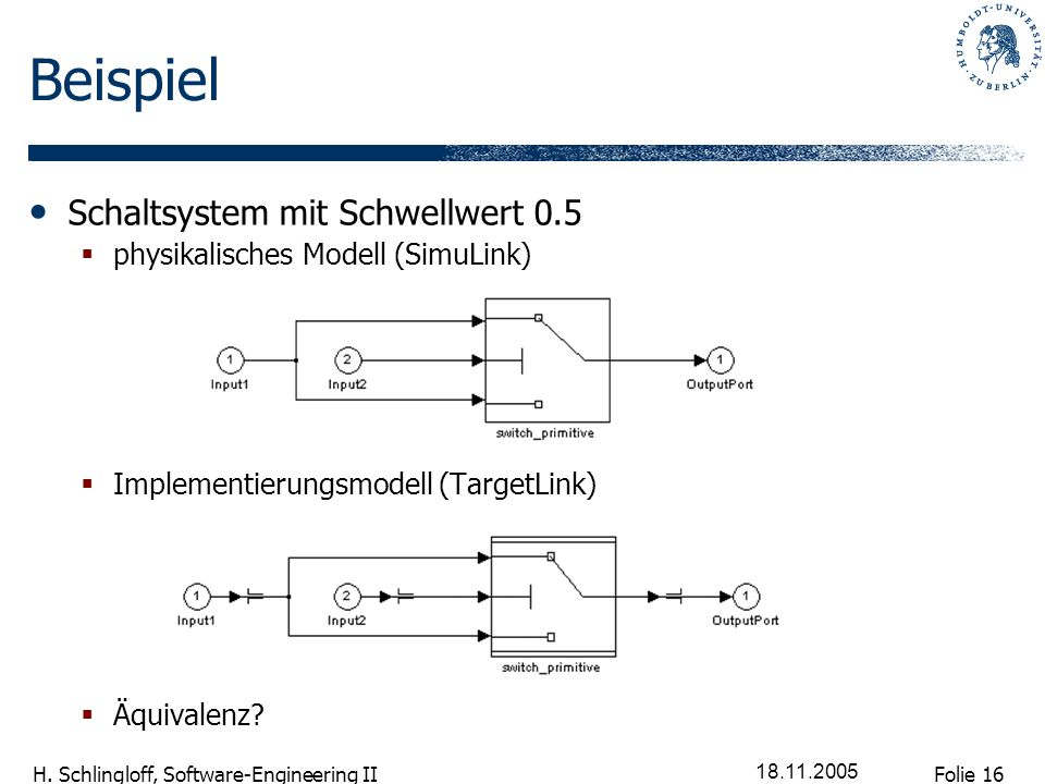 Beispiel Schaltsystem mit Schwellwert 0.5