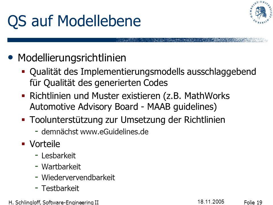 QS auf Modellebene Modellierungsrichtlinien