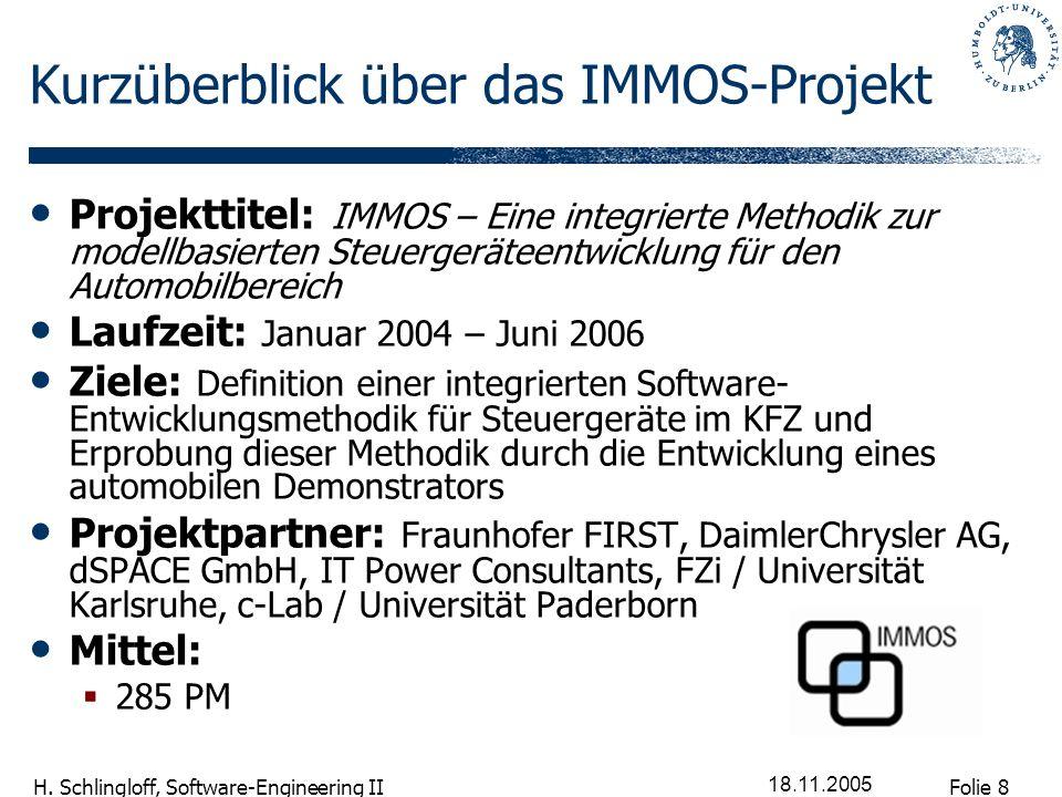 Kurzüberblick über das IMMOS-Projekt