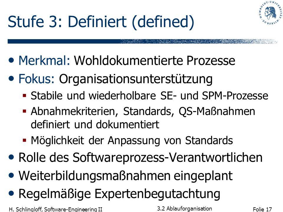 Stufe 3: Definiert (defined)