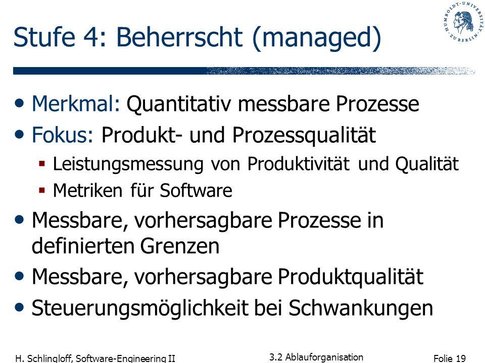 Stufe 4: Beherrscht (managed)