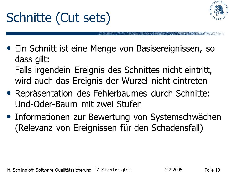 Schnitte (Cut sets)