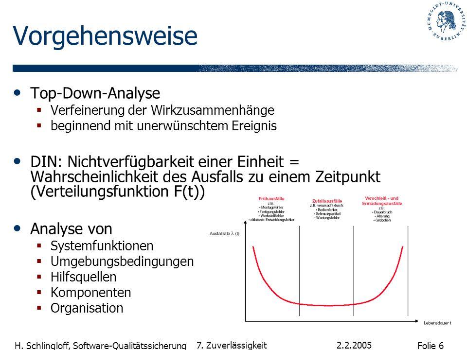 Vorgehensweise Top-Down-Analyse
