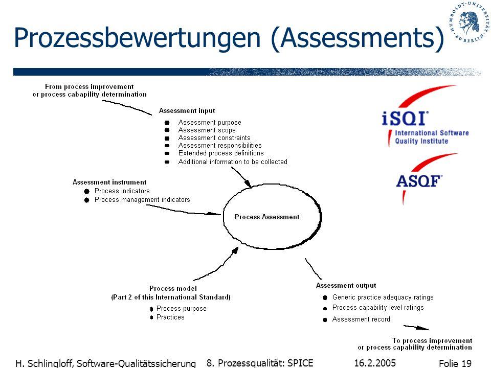 Prozessbewertungen (Assessments)