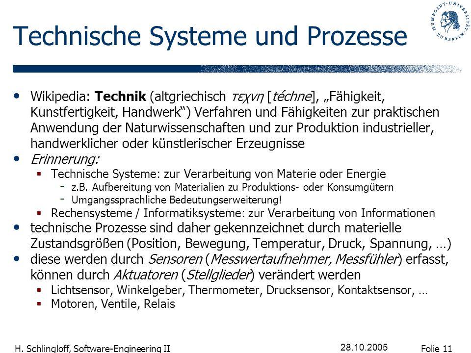 Technische Systeme und Prozesse