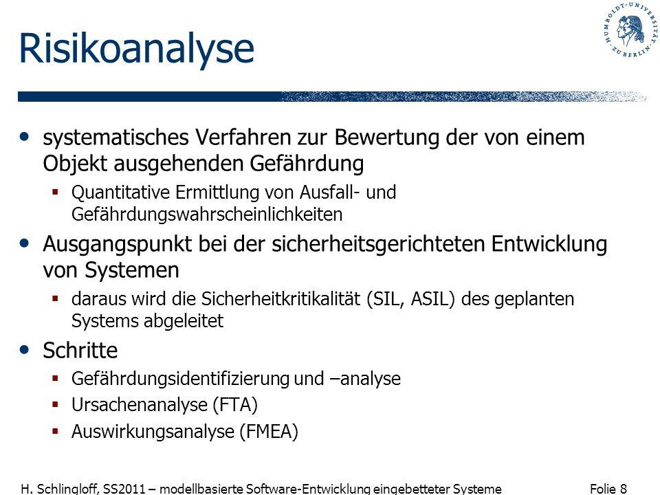 Risikoanalyse systematisches Verfahren zur Bewertung der von einem Objekt ausgehenden Gefährdung.