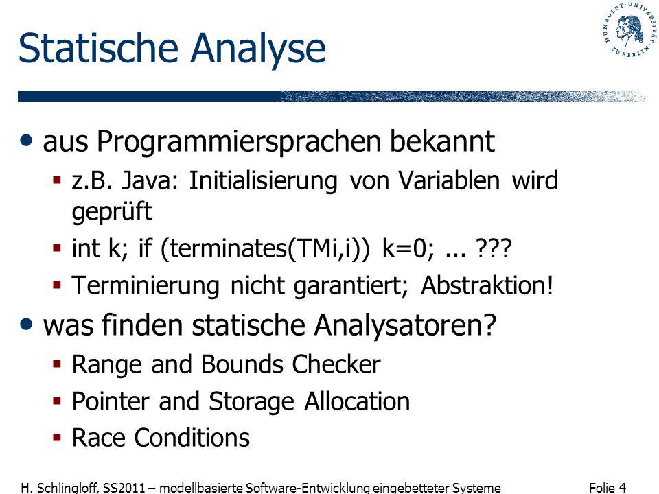 Statische Analyse aus Programmiersprachen bekannt