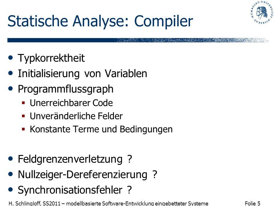 Statische Analyse: Compiler