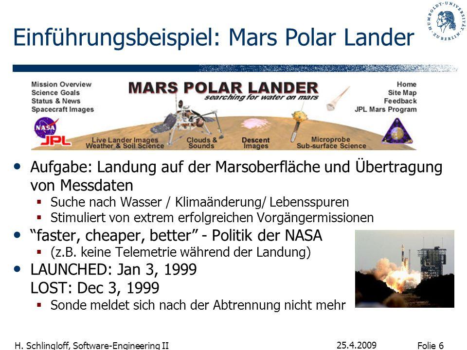 Einführungsbeispiel: Mars Polar Lander
