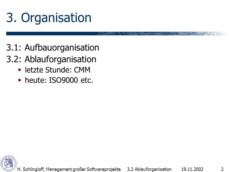 3. Organisation 3.1: Aufbauorganisation 3.2: Ablauforganisation