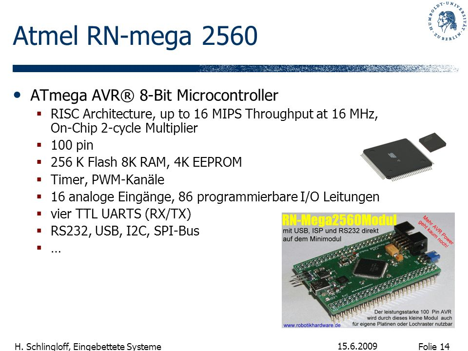 Atmel RN-mega 2560 ATmega AVR® 8-Bit Microcontroller