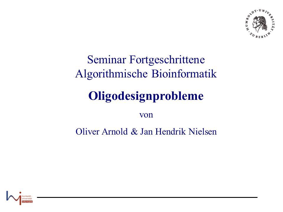 Seminar Fortgeschrittene Algorithmische Bioinformatik
