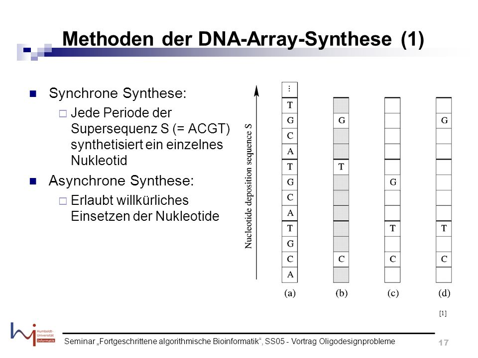 Methoden der DNA-Array-Synthese (1)