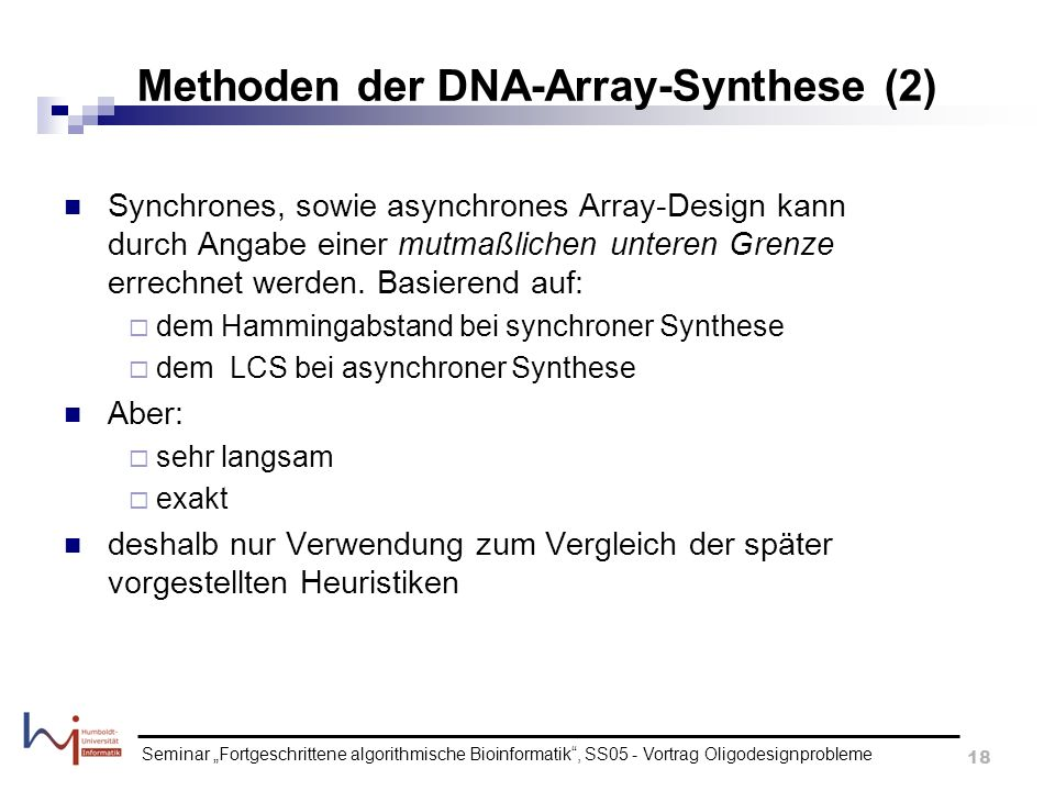 Methoden der DNA-Array-Synthese (2)