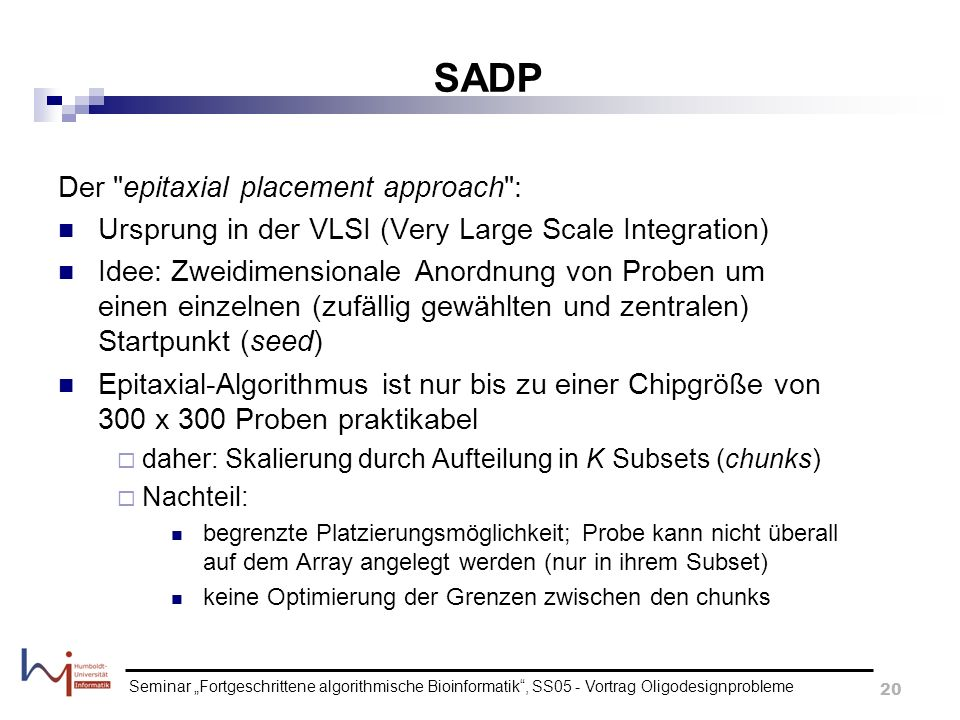 SADP Der epitaxial placement approach :