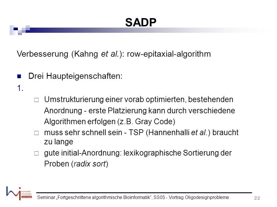 SADP Verbesserung (Kahng et al.): row-epitaxial-algorithm