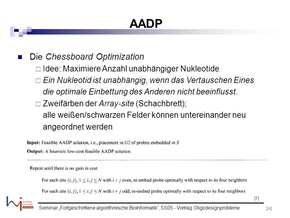 AADP Die Chessboard Optimization
