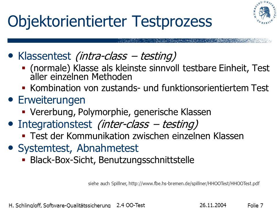 Objektorientierter Testprozess