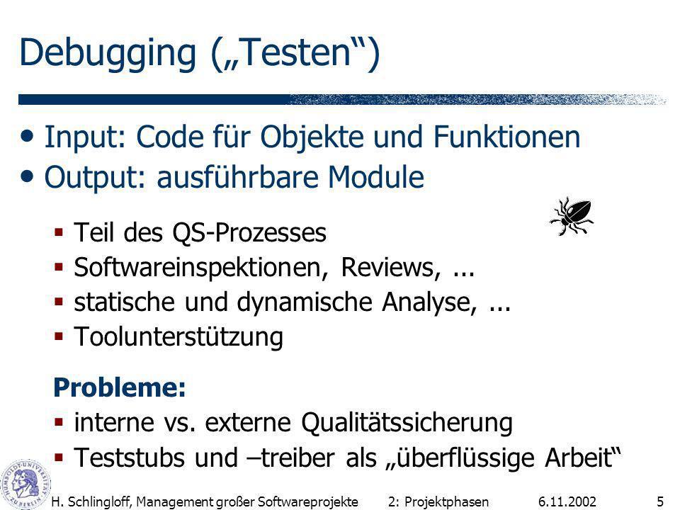 """Debugging (""""Testen ) Input: Code für Objekte und Funktionen"""