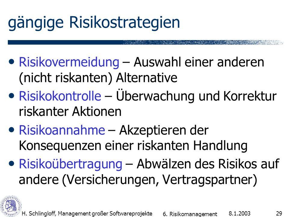 gängige Risikostrategien