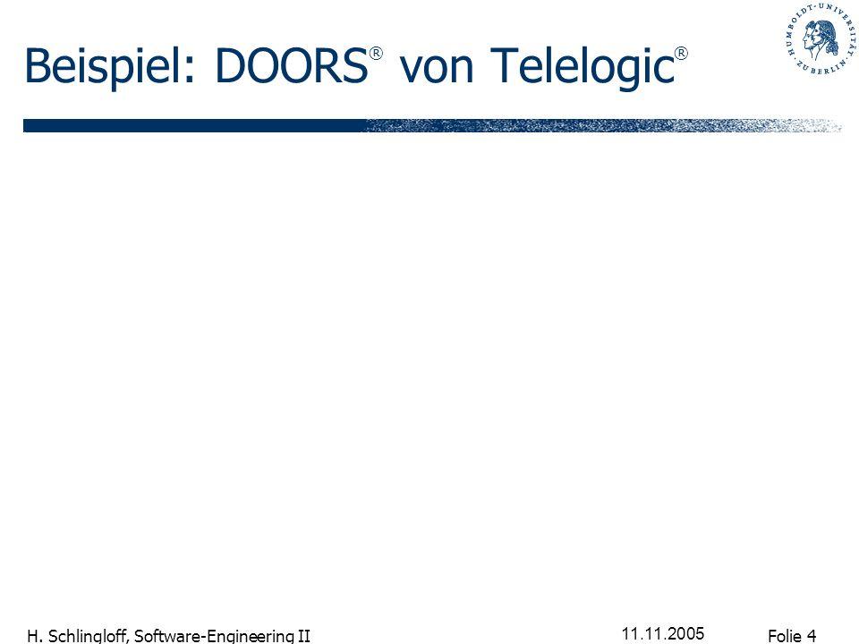 Beispiel: DOORS® von Telelogic®