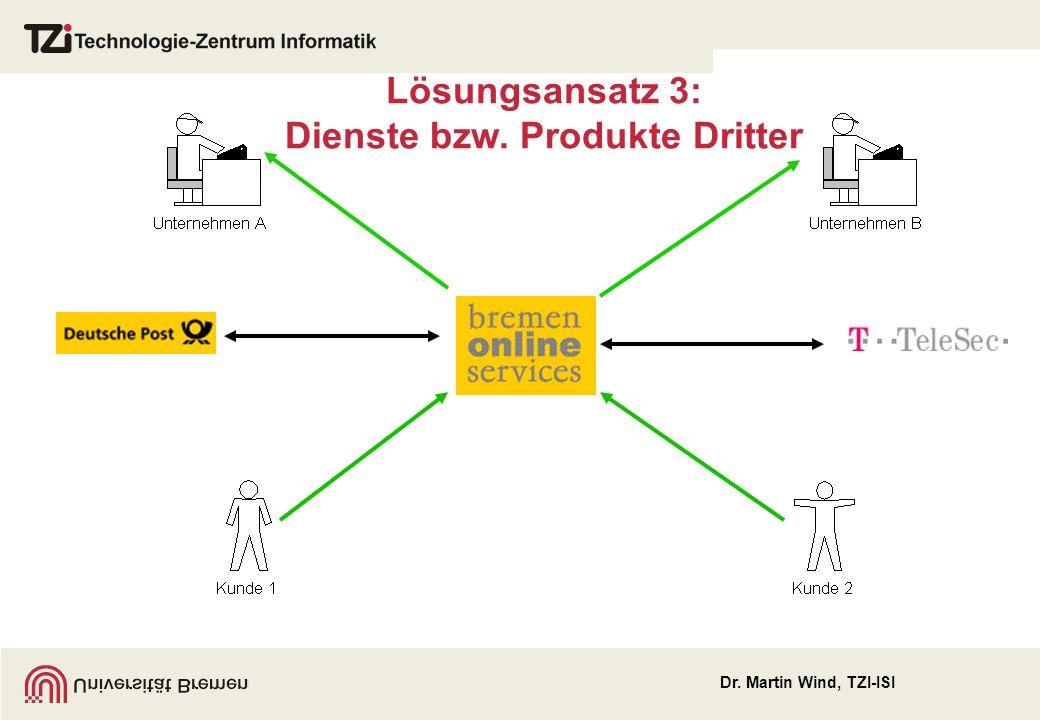 Lösungsansatz 3: Dienste bzw. Produkte Dritter