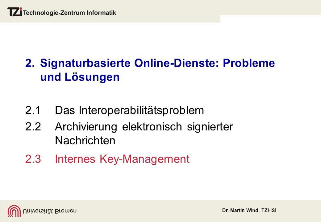 2. Signaturbasierte Online-Dienste: Probleme und Lösungen