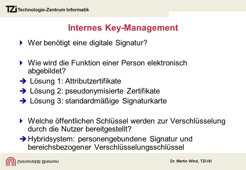 Internes Key-Management