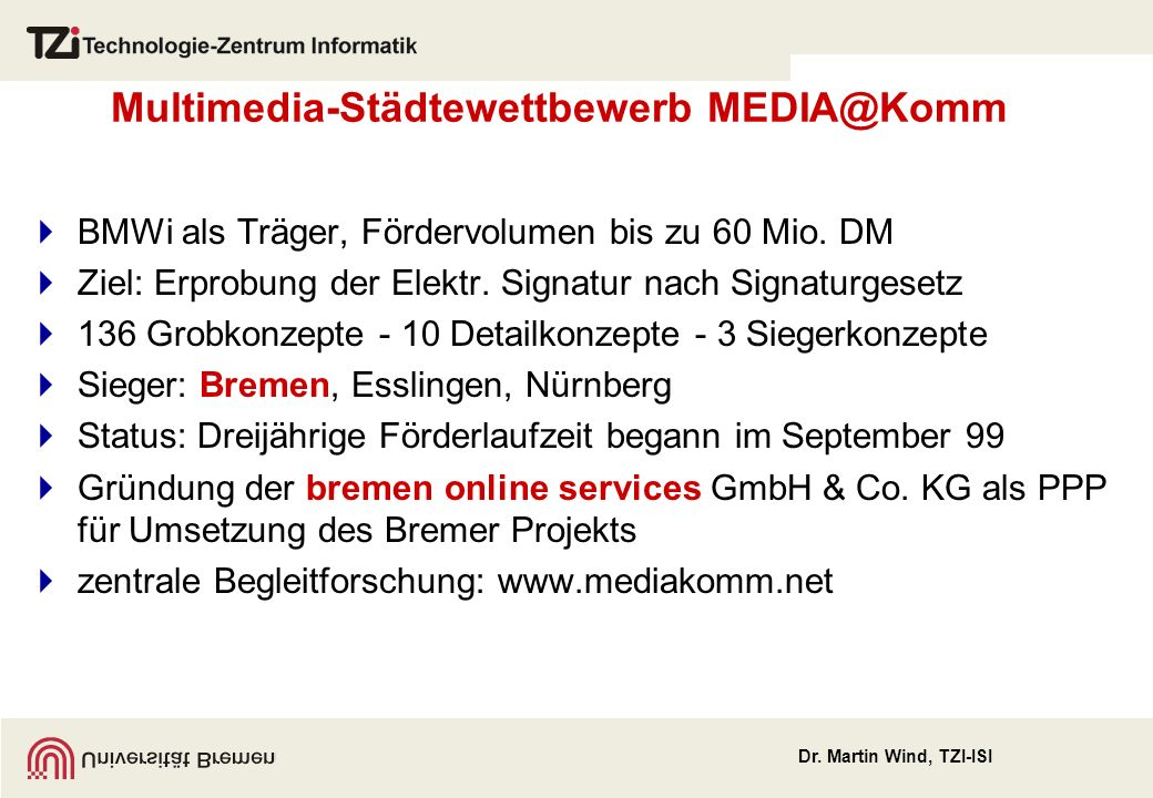 Multimedia-Städtewettbewerb MEDIA@Komm