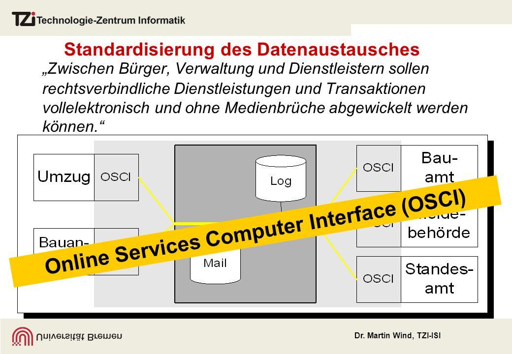 Standardisierung des Datenaustausches