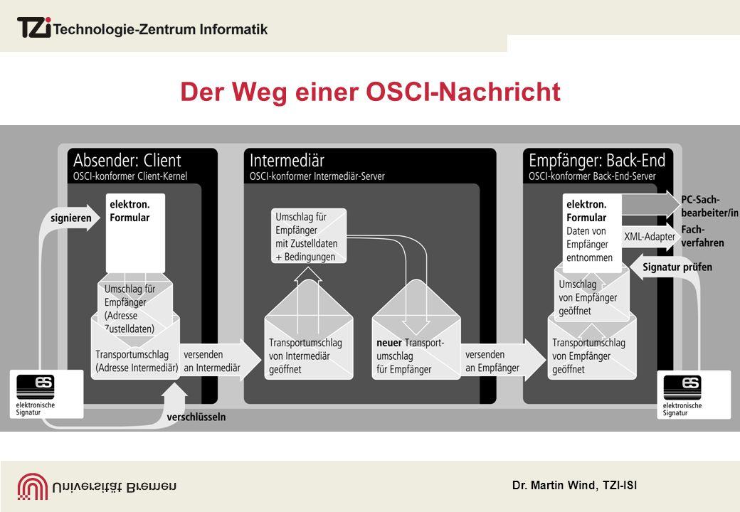 Der Weg einer OSCI-Nachricht