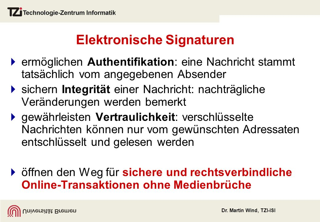 Elektronische Signaturen