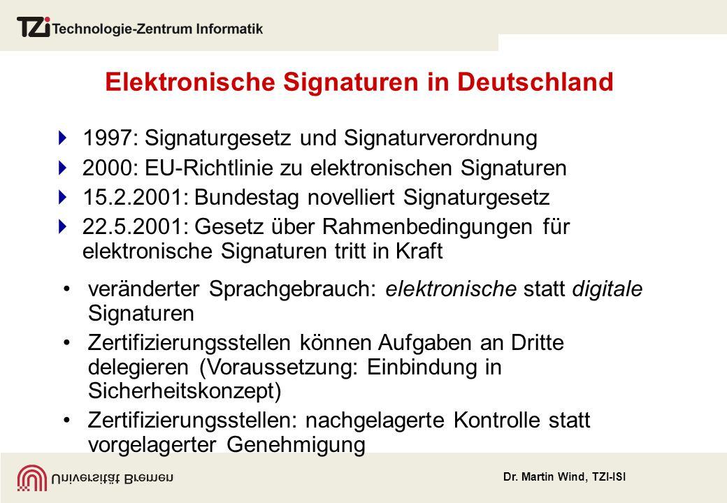 Elektronische Signaturen in Deutschland