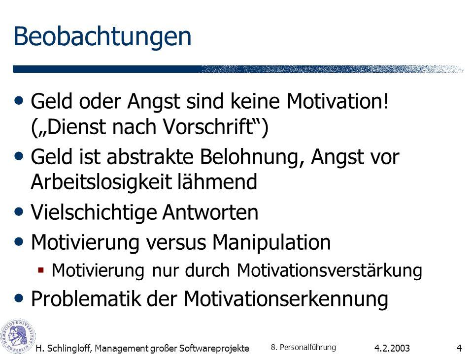 """Beobachtungen Geld oder Angst sind keine Motivation! (""""Dienst nach Vorschrift ) Geld ist abstrakte Belohnung, Angst vor Arbeitslosigkeit lähmend."""