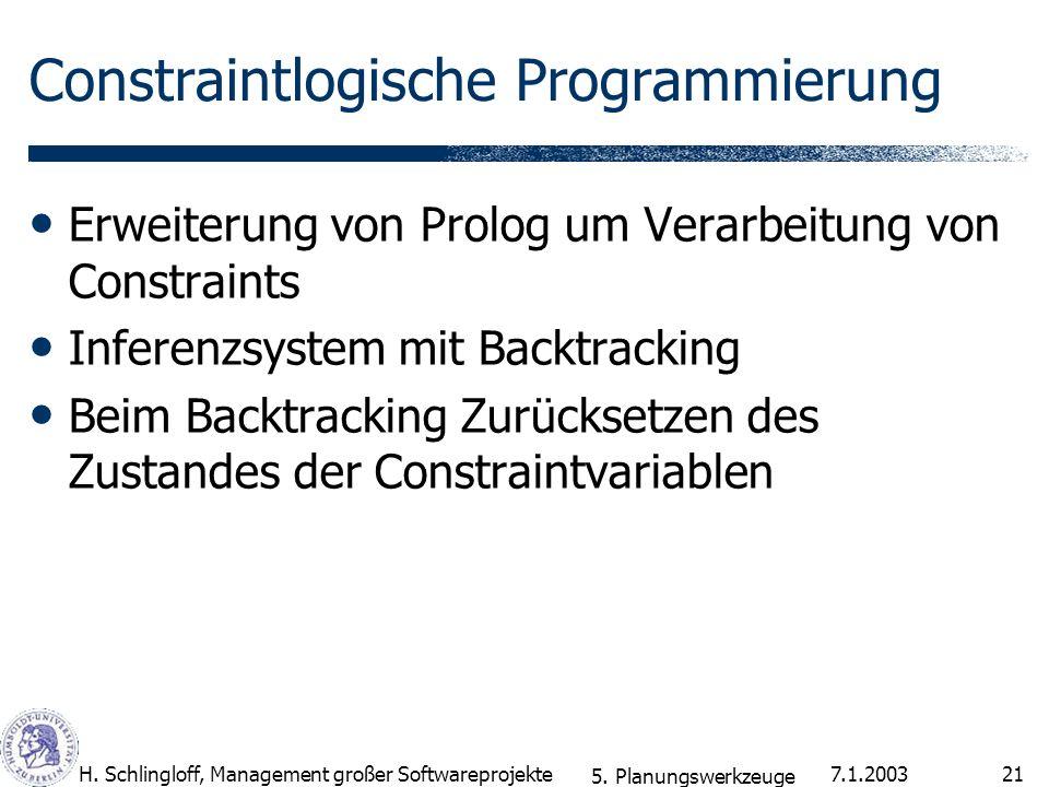 Constraintlogische Programmierung