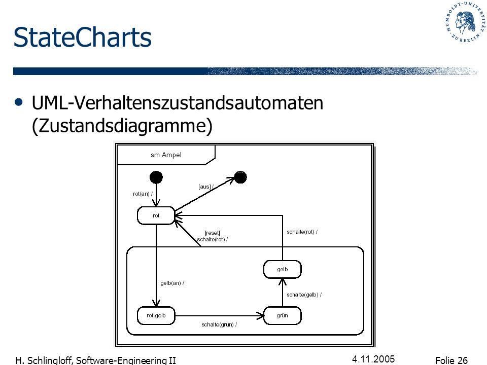 StateCharts UML-Verhaltenszustandsautomaten (Zustandsdiagramme)