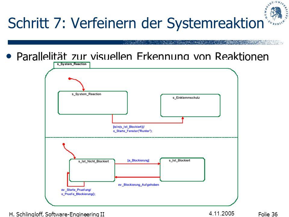 Schritt 7: Verfeinern der Systemreaktion