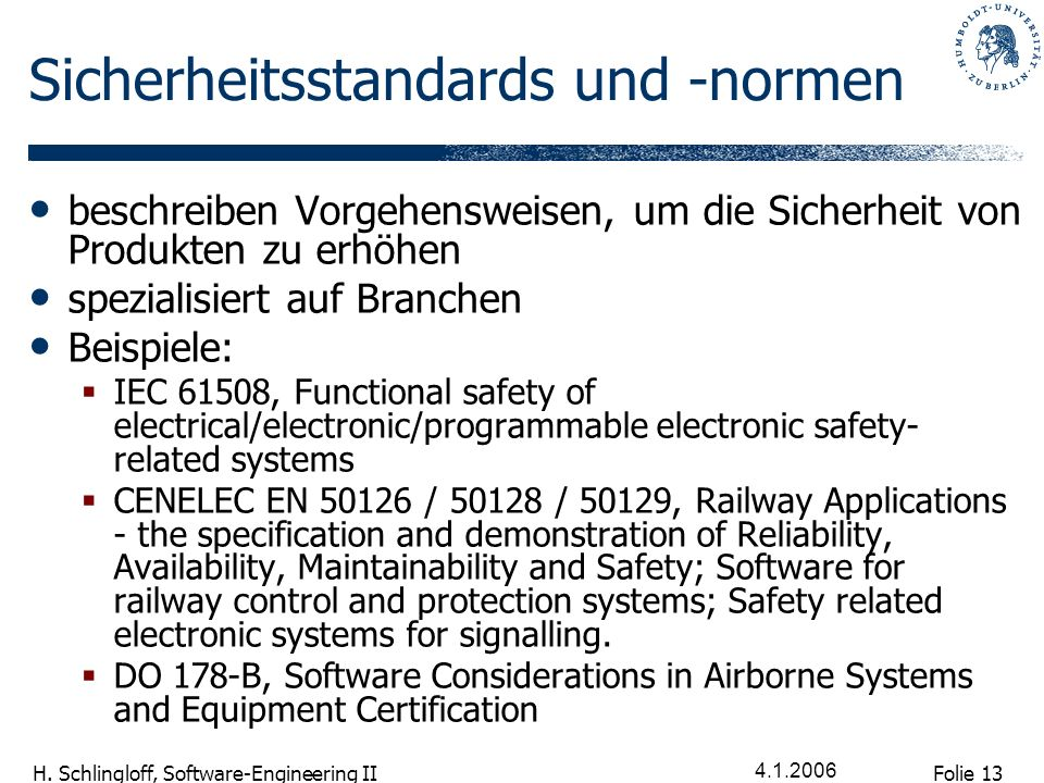 Sicherheitsstandards und -normen
