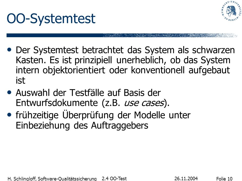 OO-Systemtest
