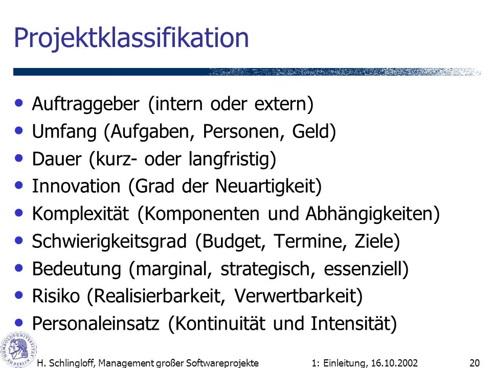 Projektklassifikation