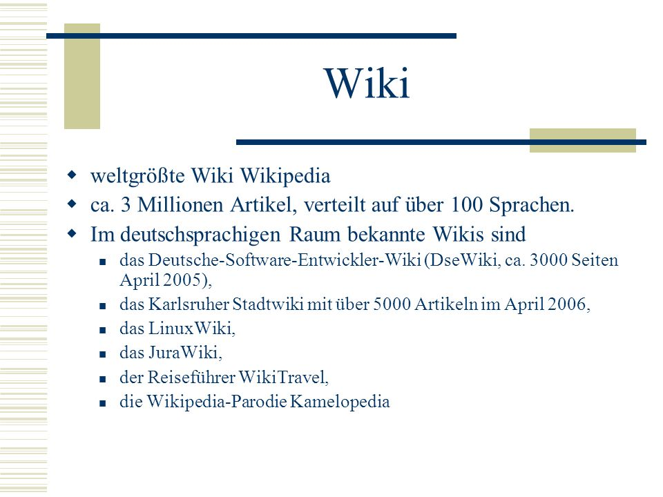 Wiki weltgrößte Wiki Wikipedia