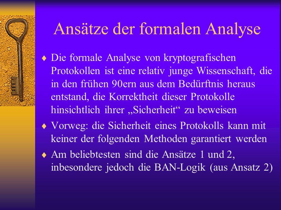 Ansätze der formalen Analyse