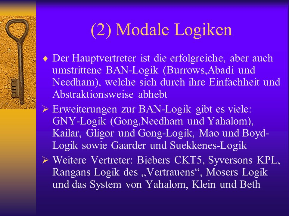 (2) Modale Logiken
