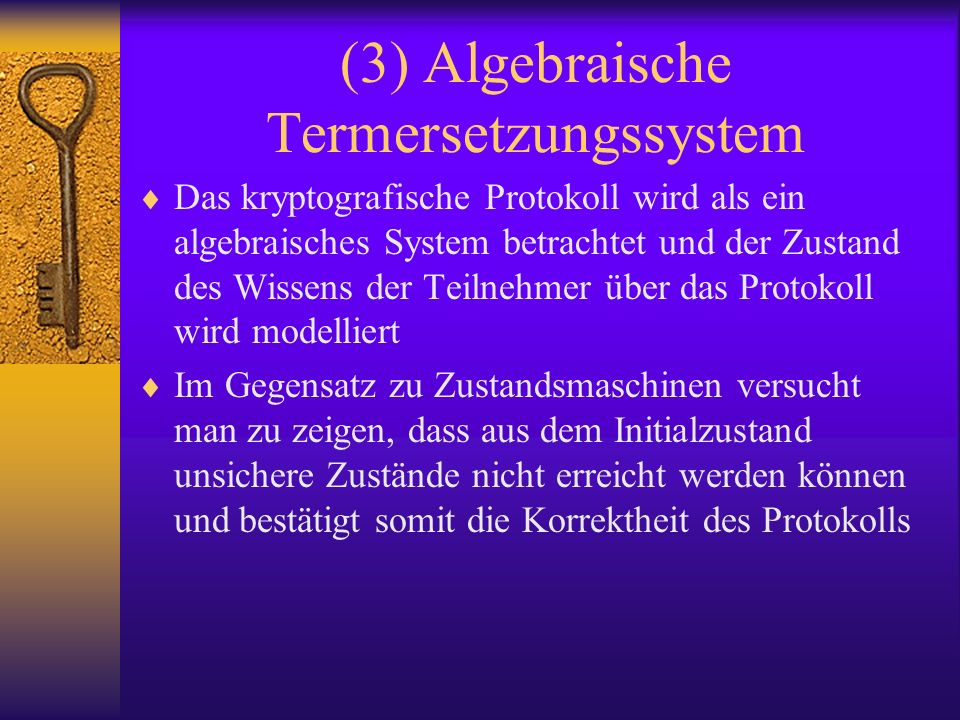 (3) Algebraische Termersetzungssystem