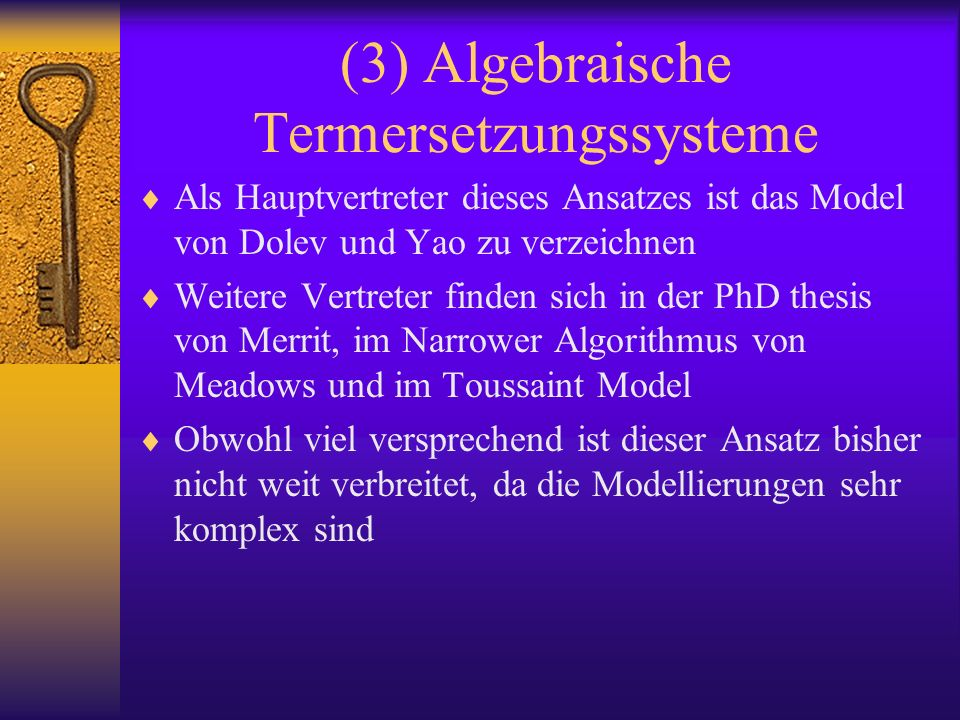 (3) Algebraische Termersetzungssysteme