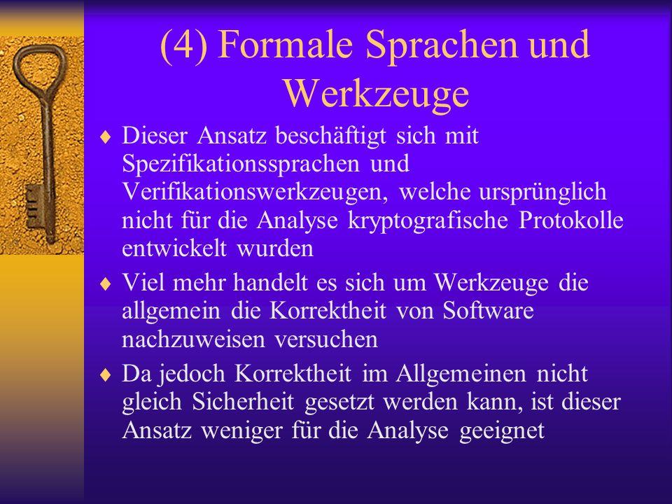 (4) Formale Sprachen und Werkzeuge