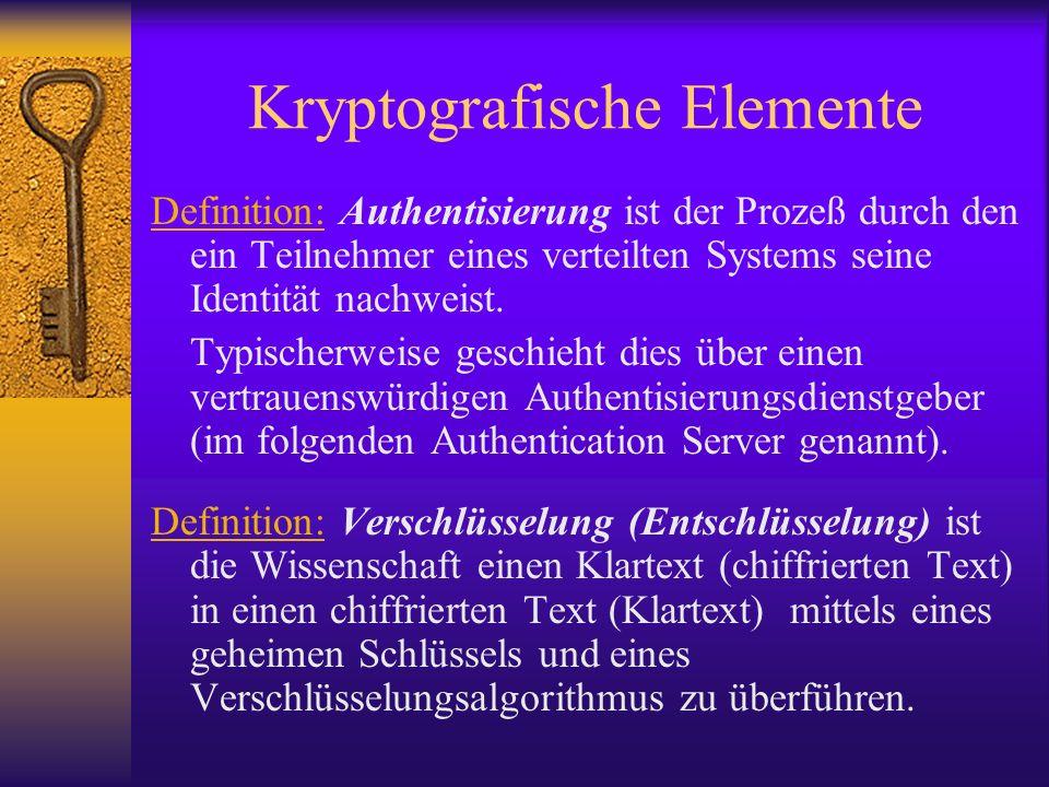 Kryptografische Elemente