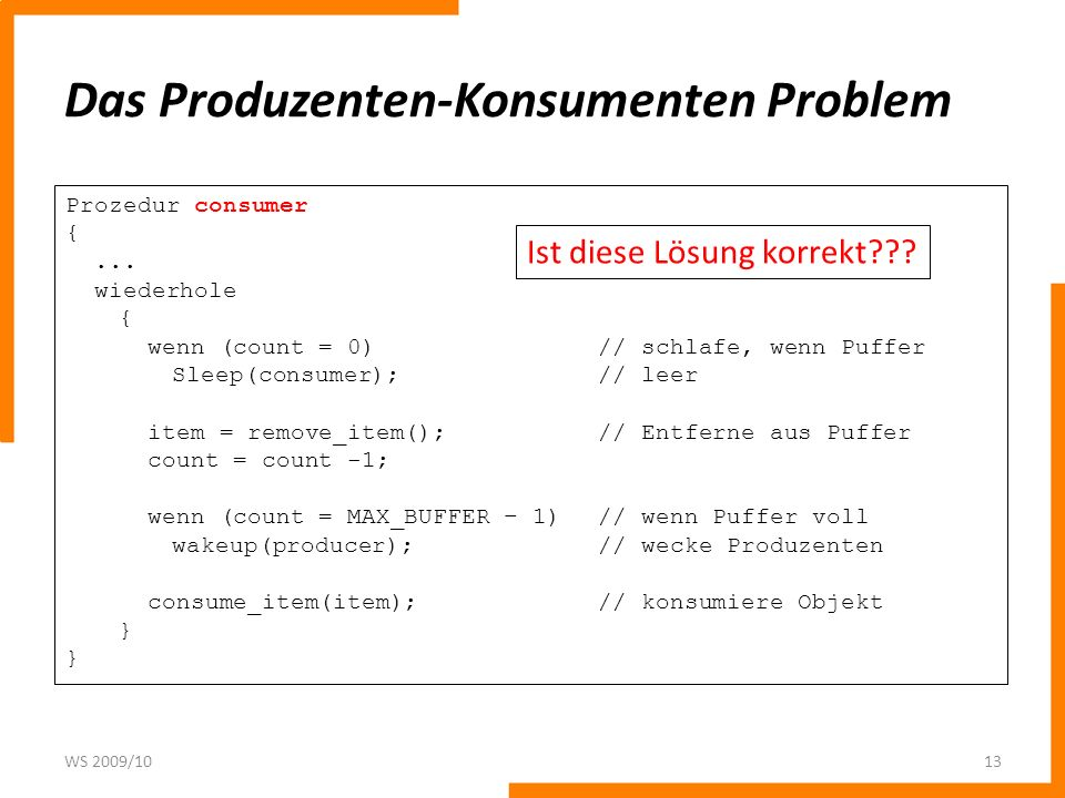 Das Produzenten-Konsumenten Problem